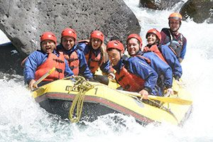White Water Rafting Action