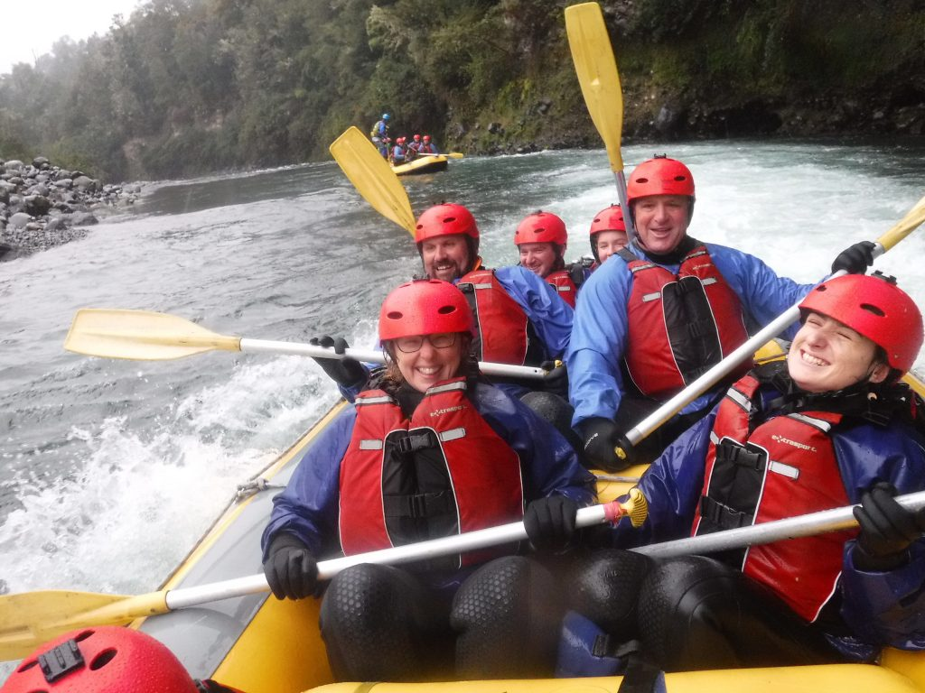 winter rafting on the tongariro