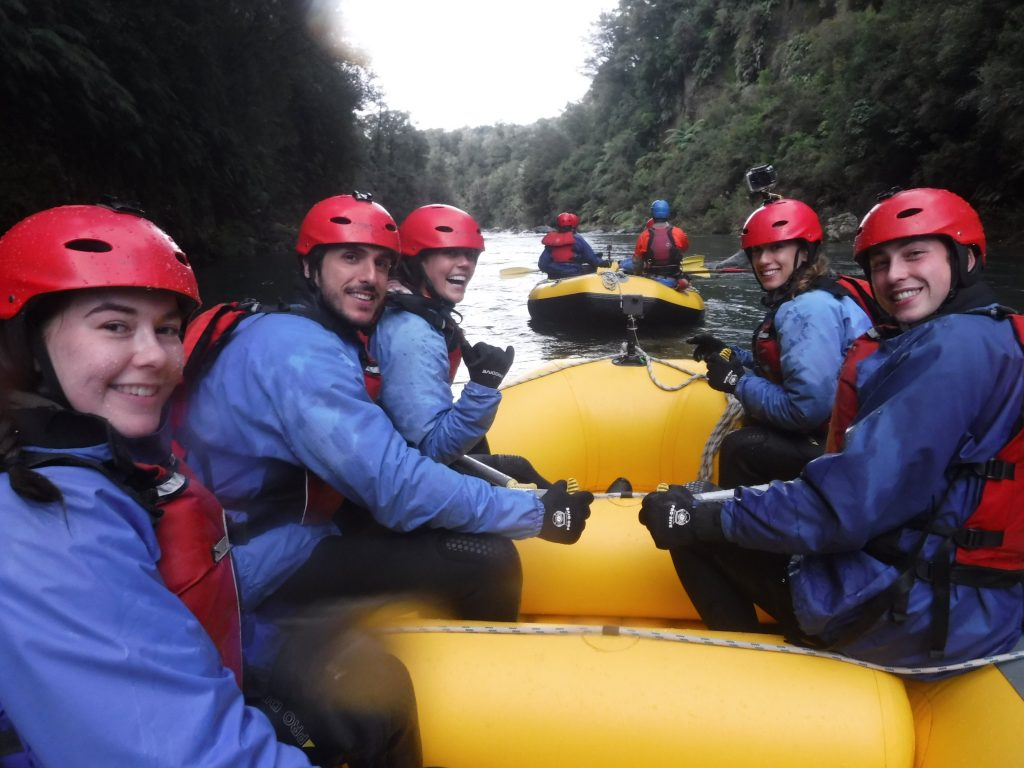 winter rafting on the tongariro with smiles